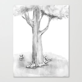 Along came the White Rabbit Canvas Print