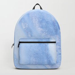Shimmery Pure Cerulean Blue Marble Metallic Backpack