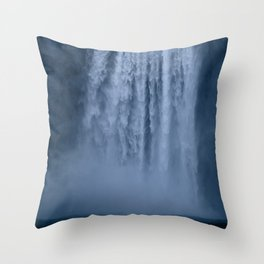 Winter at Skógafoss Throw Pillow