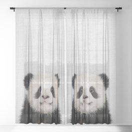 Panda Bear - Colorful Sheer Curtain