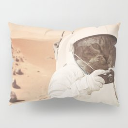 Astronaut Cat on Mars Pillow Sham