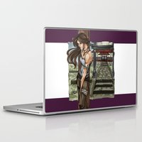 lara croft Laptop & iPad Skins featuring Lara Croft Japan by memo_alatouly
