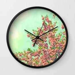 Happy Springtime Wall Clock