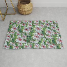 PINK AND WHITE FLOWER Rug