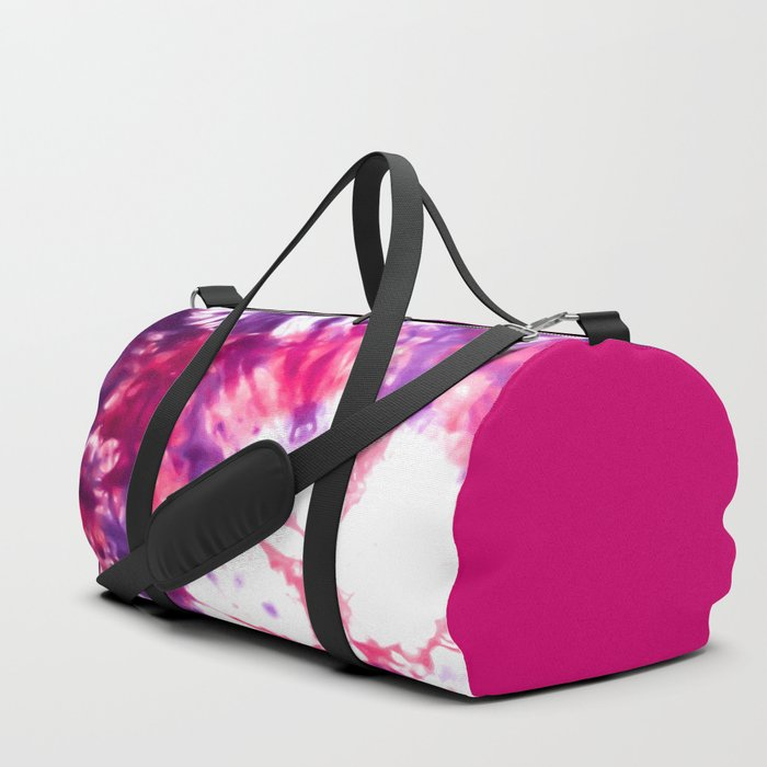 Modern Artsy Abstract Neon Pink Purple Tie Dye Duffle Bag