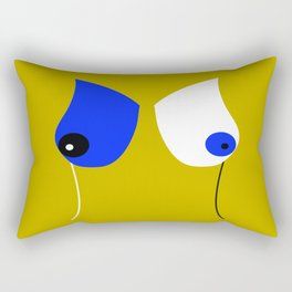 Breasticles In Yellow and Blue Rectangular Pillow