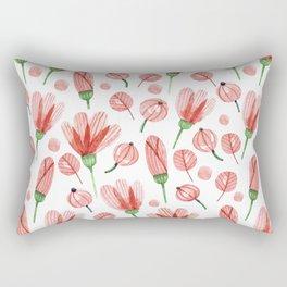 Red flowers Nature Rectangular Pillow