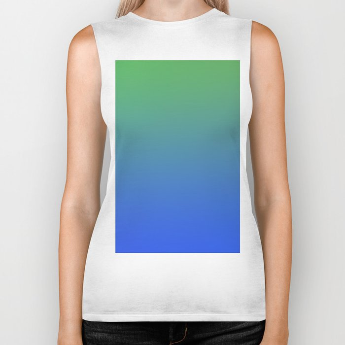 RESTING STATE - Minimal Plain Soft Mood Color Blend Prints Biker Tank