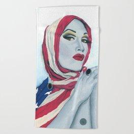 American Ladyboy Beach Towel