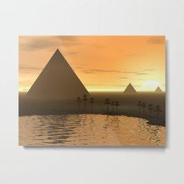 The Giza Necropolis Metal Print