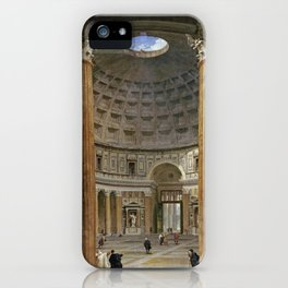 Giovanni Paolo Panini  -  The Interior Of The Pantheon  Rome iPhone Case