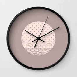 Textured Moon Wall Clock