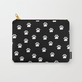 Cat's hand drawn paws in black and white Carry-All Pouch