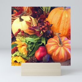 Pumpkin Profusion Mini Art Print