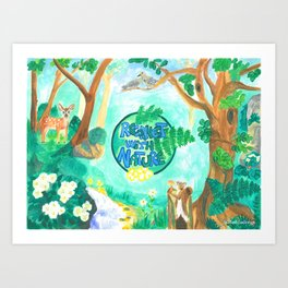 Medilludesign Ecotherapy Forest 2 Art Print