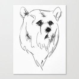 sad bear Canvas Print