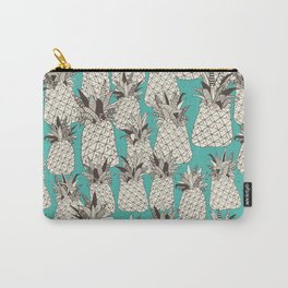 pineapple turquoise sea Carry-All Pouch