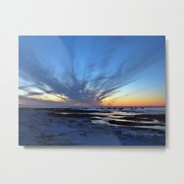 Cloud Streaks at Sunset Metal Print