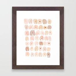 42 VAGINAS Framed Art Print