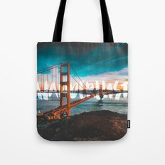 WANDERLUST - wall tapestry - travel - water - sky - landscape nature photography tapestries love Tote Bag