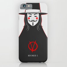 V for vendetta November 5 Minimal Poster iPhone 6s Slim Case