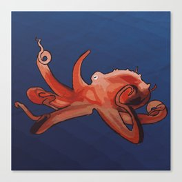 In the sea: octopus Canvas Print