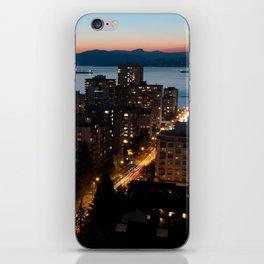 English Bay Sunset iPhone Skin
