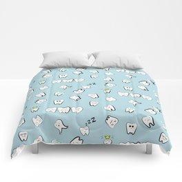 Teeth pattern Comforters