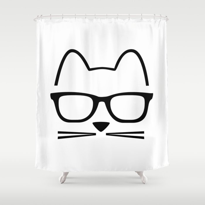 Cat Nerd Shower Curtain By Styletent