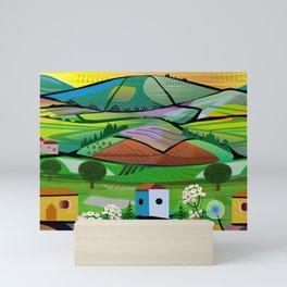 Tea Plantation Mini Art Print
