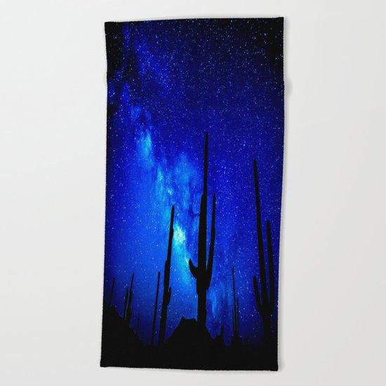 The Milky Way Blue Beach Towel
