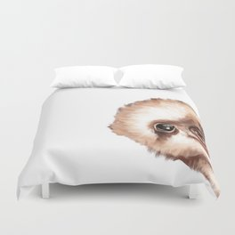 Sneaky Baby Sloth Duvet Cover
