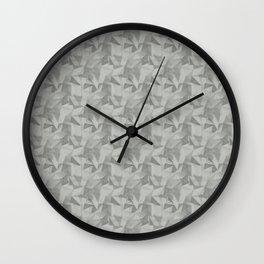 Abstract Geometrical Triangle Patterns 2 Benjamin Moore Metropolitan Gray AF-690 Wall Clock