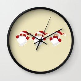 The Three Wise Santas Wall Clock