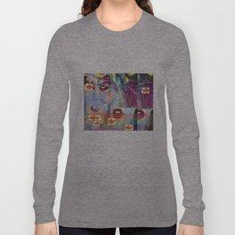 La Lip-Face Long Sleeve T-shirt