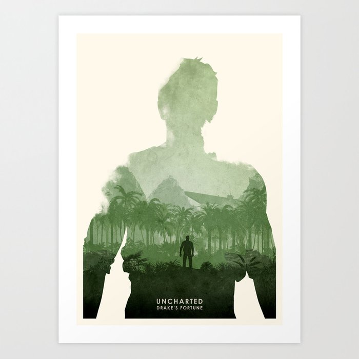 Uncharted 1 Art Print