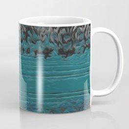 Teal and Gray Abstract Coffee Mug