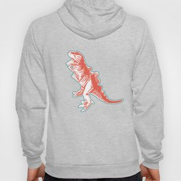 Dino Pop Art - T-Rex - Teal & Dark Orange Hoody