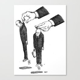 Hommes En Noir Par Lot De Deux Canvas Print