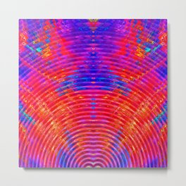 Bright Abstract Red Purple & Blue Ripples Metal Print
