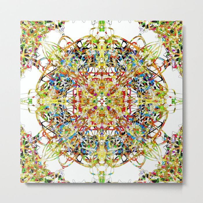 Colourful Node Of Termination Metal Print