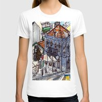 portugal T-shirts featuring Buarcos, Portugal by Claire Nelson-Esch