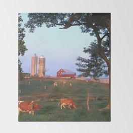 Dairy Farm Throw Blanket