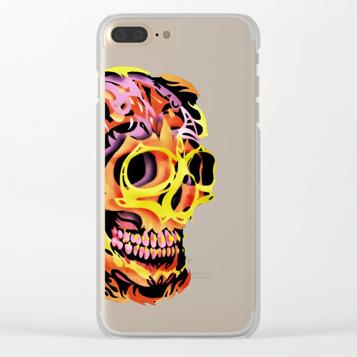 Skull V Clear iPhone Case