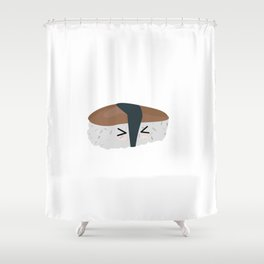 Sushi with rice and mushroom Shower Curtain