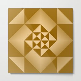 Abstract Triangles - Desert Metal Print