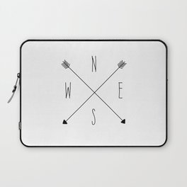 Compass - North South East West - White Laptop Sleeve