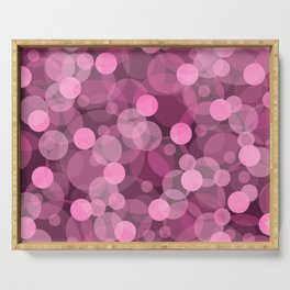 Pink Bubbles 2 Serving Tray