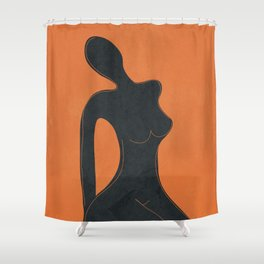 Abstract Nude II Shower Curtain