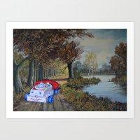 thegnarledbranch Art Prints featuring Memory Lane by TheGnarledBranch